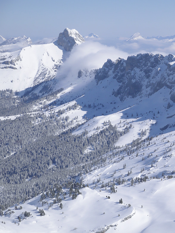 Vue aérienne du Vercors, Isère