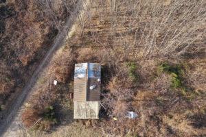 Survol de forêt en drone