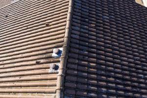Photographie aérienne d'une toiture - Contrôle de toiture
