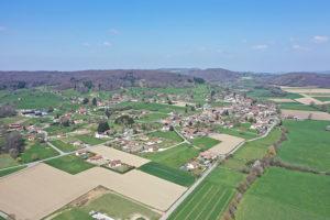 Vue aérienne d'Eydoche en Isère - Drone
