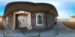 Panorama 360 degré extérieur de maisons