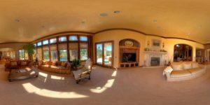 Panorama 360° intérieur de villa - Visite virtuelles