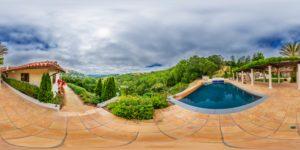 Panorama 360 degrés d'une propriété
